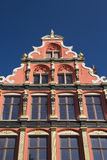 Gable roof and windows of the house (Bruges, Belgium) Stock Photography