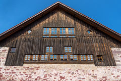 Gable of a rustic house Royalty Free Stock Images