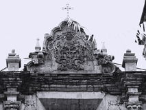 Gable of San Francisco Church in La Paz/Bolivia. Detail of the facade of San Francisco Basilica in La Paz Royalty Free Stock Photography