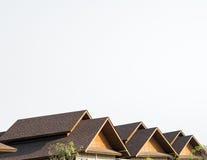 Gable Shingles Roof tripla imagem de stock royalty free