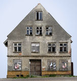 Gable side of a desolate old house Royalty Free Stock Photos