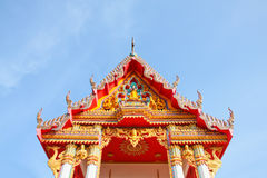 Gable Temple roof Royalty Free Stock Photo