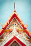 Gable Temple roof Royalty Free Stock Image