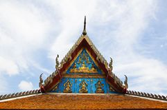 Gable of Thai Temple Royalty Free Stock Images