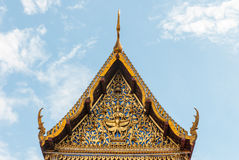 Gable of Thai Temple Royalty Free Stock Image