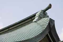 Gable on Tiled Roof at Meiji Shrine Stock Images