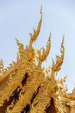 Gable of Toilet in Wat Rong Khun, Unique Thai Temple in Chiang Rai, Thailand Royalty Free Stock Photography