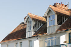 Gabled Dormer window architecture. Royalty Free Stock Photo