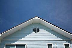 Triangular roof stock photos