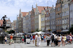 Gabled houses of Gdansk in Poland Stock Images