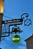 Gablerbräu在萨尔茨堡 库存照片