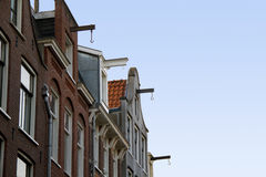 Gables of Amsterdam houses Royalty Free Stock Image