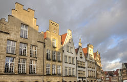 Gables of Buildings in Munster, Germany Royalty Free Stock Photography