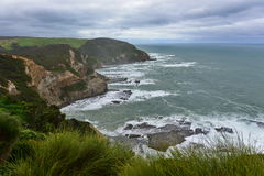 The Gables coastline as viewed from Moonlight Head in Victoria Royalty Free Stock Image