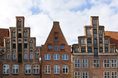 Gables of medieval houses at Lueneburg Stock Image