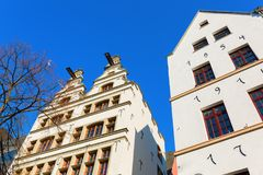 Old buildings at the Old Market Square in Cologne. Gables of old buildings at the Old Market Square in Cologne, Germany Royalty Free Stock Photo