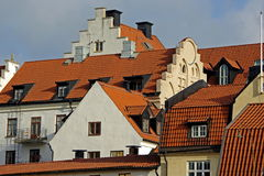 Gables and roofs Stock Image