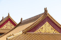 Gables and roofs Forbidden City, Beijing Stock Photography