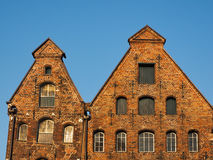 Gables of the salt storages of Luebeck, Germany Stock Photography