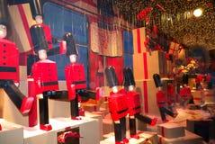 Gablota wystawowa pokazu Wydziałowy sklep Paryż zdjęcia royalty free