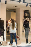 Gablota wystawowa w sklepie Zdjęcia Royalty Free