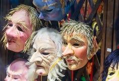 Gablota wystawowa z karnawał maską Wenecja Obrazy Royalty Free