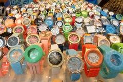 Gablota wystawowa zegarka sklep w uczciwym handlu Gijon obrazy royalty free