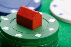 gabmle rynek budownictwa mieszkaniowego Zdjęcie Stock
