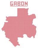 Gabon Africa Dot Map Royalty Free Stock Image
