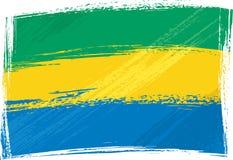 Gabon bandery crunch Zdjęcia Stock