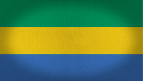 Gabon flag Royalty Free Stock Images