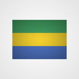 Gabon flag on a gray background. Vector illustration Royalty Free Stock Image
