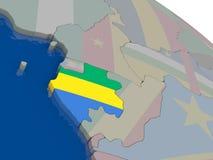 Gabon with flag Royalty Free Stock Photos