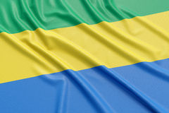 Gabon flag Stock Photos