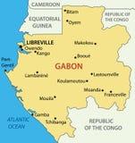 Gabon - Gabonese Republic - vector map Royalty Free Stock Image