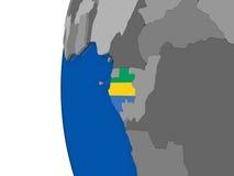 Gabon on globe Royalty Free Stock Photos
