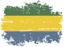Gabon grunge flag. Vector illustration. Royalty Free Stock Photography