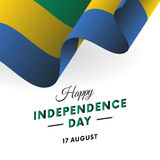 Gabon Independence Day. 17 august. Waving flag. Vector. Gabon Independence Day. 17 august. Waving flag. Vector illustration Royalty Free Stock Photos