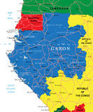 Gabon map Stock Photos