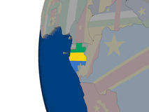 Gabon with national flag Royalty Free Stock Photo