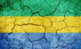 Gabonese Republic flag Royalty Free Stock Image