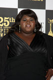 Gabourey Sidbe arriving at the 25th Film Independent Spirit Awards Royalty Free Stock Images