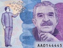 Gabriel Garcia Marquez portrait on Colombia 50000 peso 2016 ba. Nknote closeup macro, Colombian novelist, writer, screenwriter and journalist, Nobel Prize winner royalty free stock image