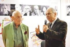 Gabriel Liiceanu & Neagu Djuvara   στοκ φωτογραφίες με δικαίωμα ελεύθερης χρήσης