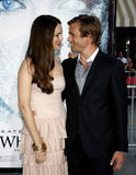 Gabriel Macht and Jacinda Barrett. At the Los Angeles premiere of `Whiteout` held at the Mann Village Theatre in Westwood, USA on September 9, 2009 Royalty Free Stock Photo