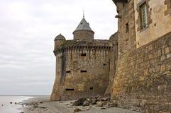 Gabriel Tower Mont-Helgon-Michel, Normandie, Frankrike Arkivbild