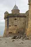 Gabriel Tower Mont-Helgon-Michel, Normandie, Frankrike Royaltyfri Fotografi