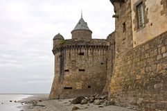 Gabriel Tower, Mont-Saint-Michel, Normandie, França Fotografia de Stock