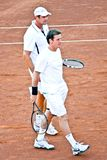 Gabriel Trifu en Andrei Pavel, Roemeense tennisspelers royalty-vrije stock fotografie