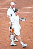 Gabriel Trifu i Andrei Pavel, Rumuńscy gracz w tenisa fotografia royalty free